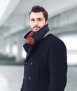 Street fashion portrait handsome man Royalty Free Stock Photo