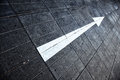 Street floor arrow direction Royalty Free Stock Photo