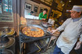 Street food in beijing local chinese people cooking china Stock Photo
