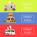 Street food festival flyers set