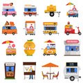 Street Food Icons Set Royalty Free Stock Photo