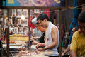 Street food at Muslim Street in Xian Stock Photos