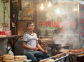 Street food at Muslim Street in Xian Royalty Free Stock Photo