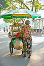 Street food vendor in the street of ho chi minh vietnam november on noveber estimate s population Royalty Free Stock Images