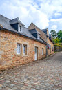 Street in the French brittany Royalty Free Stock Photo