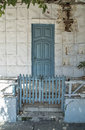 Street frontage of a house in cuba Royalty Free Stock Photography
