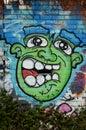 Street graffiti, art, vandalism, street crime Royalty Free Stock Photo