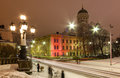 Street in helsinki finland the evening during the wintertime Stock Photos