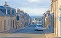 Street in Hopeman Royalty Free Stock Photo
