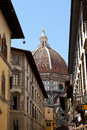 Street houses Basilica di Santa Maria del Fiore in Florence, Florence, Italy Royalty Free Stock Photo