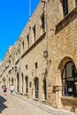 Street of the Knights in the Old Town. Rhodes Island. Greece Royalty Free Stock Photo