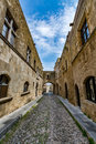 Street of Knights, Rhodes, Greece Royalty Free Stock Photo