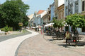Street in kosice central and garden city slovakia Stock Photos