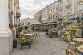 Street in Krakow Royalty Free Stock Photo