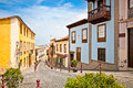 Street in la orotava tenerife spain old canary islands Stock Photography