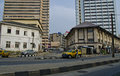 Street in lagos nigeria a the mega city of Stock Image