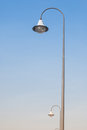 Street lamp with blue sky Royalty Free Stock Images