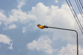 Street lamp on blue sky Royalty Free Stock Photography