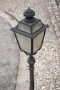 Street lamp classic early twentieth century post Royalty Free Stock Images