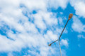 Street lamp image of light on blue sky Stock Photo