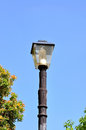 Street lamp in the old style park Royalty Free Stock Photo