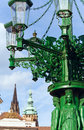 Street lamp in Prague, Czech Republic Stock Photos