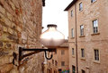 Street lamp in a small italian town Stock Photography
