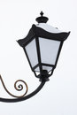 Street lamp at snowing weather detail of Stock Photography