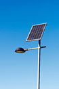 Street Lamp with Solar Panel Royalty Free Stock Photo