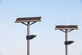 Street lamp solar panel pubic park Stock Photography