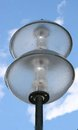 Street lamp a with a two spherical glass bodys Stock Photography