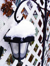 Street lamp a under snow Stock Photos