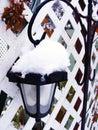 Street lamp a under snow Stock Photos