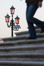 Street lamp venice italy Royalty Free Stock Photo