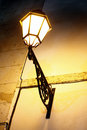 Street lamp on wall Royalty Free Stock Images