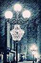 Street Lamps Winter