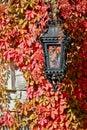 Street Lantern, Peles Castle, Sinaia, Romania Royalty Free Stock Photo