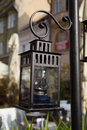 Street lantern a typical located in brasov romania Stock Image