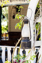Street lantern  on a vintage building background Royalty Free Stock Photo
