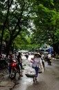 Street Life in Ha Noi - Viet Nam Royalty Free Stock Photo