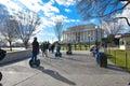 Street life near Abraham Lincoln Memorial. Washington DC, USA. Royalty Free Stock Photo