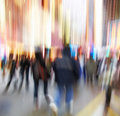Street life in New York - blurred Stock Image