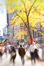 Street life - New York. Lens blurred. Stock Photo