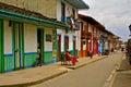 Street Life in Salento, Coffee Region, Colombia Royalty Free Stock Photo