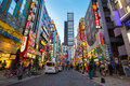 Street life in Shinjuku Royalty Free Stock Photo