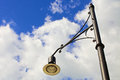 Street light against blue skies background with clouds Royalty Free Stock Images