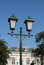 Street light in moscow kremlin russia on sunny summer day Royalty Free Stock Images