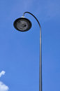 Street light pole with the blue sky in thailand Royalty Free Stock Photo