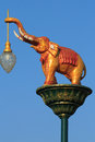 Street lighting elephants against the backdrop of the sky Royalty Free Stock Images