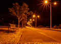 Street lights with radiations. Royalty Free Stock Photo